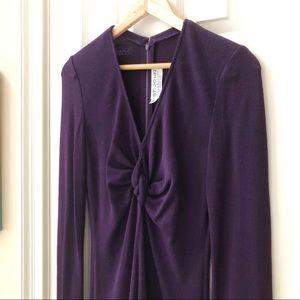 St. John Collection purple sweater dress